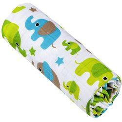 ręcznik bambusowy, zielone słonie marki T-tomi