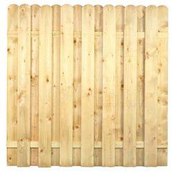 Płot sztachetowy z drewna Marita 1800 x 1800