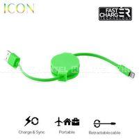 PURO ICON Retractable Cable - Zwijany kabel ligtning MFi (Green) - Zielony, kup u jednego z partnerów