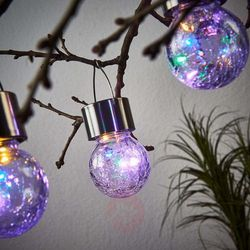 Esotec Solarna lampa wisząca led color ball, zestaw 3-el. (4260057865151)