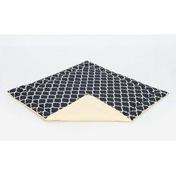 mata podłogowa dla dzieci 116x116 dwustronna maroko czarne / cytrynowy marki Mamo-tato