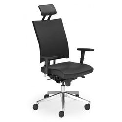 Krzesło obrotowe @-MOTION u hru r15k steel33 chrome - biurowe z regulacją głębokości siedziska i zagłówkiem, fotel biurowy, obrotowy, -MOTION U HRU R15K steel33 chrome