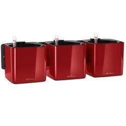 Donica ścienna cube glossy home kit czerwony połysk marki Lechuza