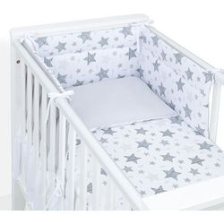 ochraniacz do łóżeczka 70x140 starmix szary / szary marki Mamo-tato