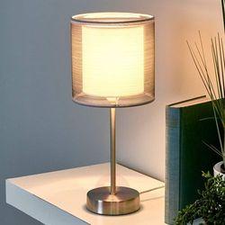 Lampenwelt.com Atrakcyjna lampka nocna nica, szara