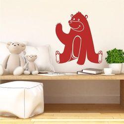 Wally - piękno dekoracji Naklejka na ścianę dla dzieci miś 2271