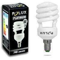 Polux Świetlówka energooszczędna  platinum 12w e14 2700k (5903137201690)
