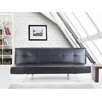 Rozkładana sofa czarna ruchome podłokietniki BRISTOL