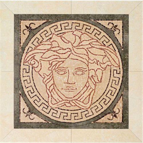 PALACE LIVING Rosoni Medusa in pietra Rosa/Nero 41x41 (P83) ze sklepu 7i9.pl Wszystko  Dla Domu