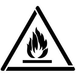 Szabloneria Szablon do malowania znak ostrzeżenie przed substancjami łatwopalnymi gw021 - 17x20 cm