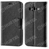 Kabura pokrowiec Fancy Series Huawei P8 czarny - Czarny (Futerał telefoniczny)
