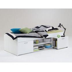 Łóżko ALORA z półkami - 90 × 200 cm - Biały