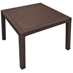 Stół ogrodowy Corfu brąz 95x95 cm / Gwarancja 24m / NAJTAŃSZA WYSYŁKA!