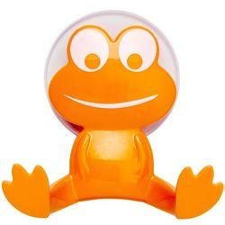 Uniwersalny haczyk FROG na przyssawkę, wieszak - kolor pomarańczowy, WENKO