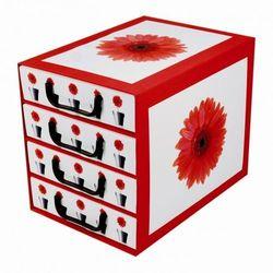 Pudełko kartonowe 4 szuflady pionowe DONICZKI-GERBERY, towar z kategorii: Doniczki i podstawki