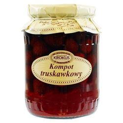 Kompot truskawkowy truskawki 640g - , marki Krokus
