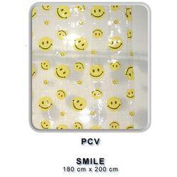 Zasłonka prysznicowa pcv 180x200 smile marki Bisk