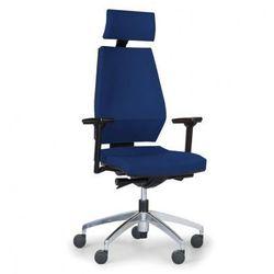 Krzesło biurowe Motion z podpórką głowy, niebieskie