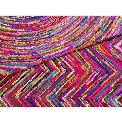 Beliani Dywan - kolorowy - poliester - bawełna - shaggy - 80x150 cm - karasu