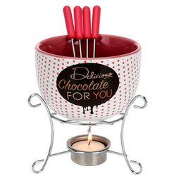Ceramiczny zestaw do czekoladowego fondue dla 4 osób, B073CL71KX