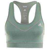 adidas Performance TECHFIT SOLID Biustonosz sportowy green/metallic silver