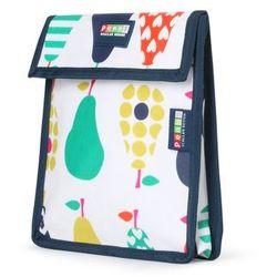 Penny Scallan Design, torebka na przekąski, wielokrotnego użytku, biało-granatowa w gruszki - produkt z kategorii- Pozostałe artykuły szkolne i plastyczne