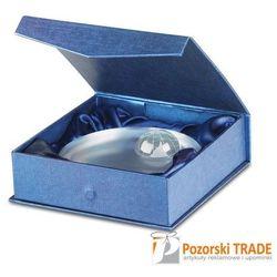 Elegancka okrągła szklana nagroda z wzorem kuli ziemskiej MONDAL