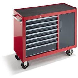 Wózek warsztatowy, wys. x szer. x głęb. 923x1060x480 mm, 7 szuflad, 1 drzwi skrz marki Seco