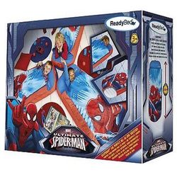 Przenośny dmuchany materac + śpiwór spiderman, marki Worldsapart