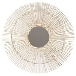 Vente-unique.pl Bambusowe lustro w kształcie słońca olly - śred. 80 cm - kolor naturalny