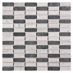 Mozaika woodstone grey block mix 48 30,5x30,5  od producenta Dunin