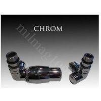 Zestaw zaworów grzejnikowych termostatycznych VISION lewy CHROM