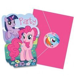 Zaproszenia urodzinowe My Little Pony - 8 szt.