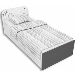 Producent: elior Biało-grafitowe łóżko młodzieżowe 90x200 timi 9x - 5 kolorów