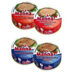 Manná Zestaw 5 - portugalskie pasty z tuńczyka i sardynek 12x65g - sprawdź w wybranym sklepie