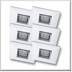 Wysokogat. Oprawy wbudowywane Quadro, wychylne, białe, 6x35W, produkt marki Paulmann