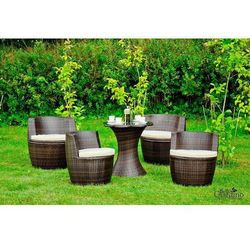 Bello giardino Zestaw mebli ogrodowych morbido ciemny brąz (zo.017.001), kategoria: zestawy ogrodowe