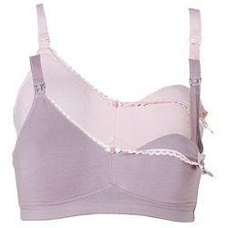Biustonosz do karmienia piersią (2 szt.) bonprix jasnoróżowy + w kolorze bzu z kategorii Biustonosze ciąż