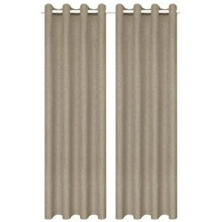 Zasłony stylizowane na lniane, 2 szt., 140 x 245 cm, beżowe