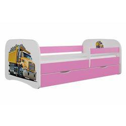 Łóżko dla dziecka, barierka, babydreams, ciężarówka, różowe
