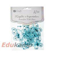 Motylki z kryształem dpcraft 5cm 10szt. niebieskie (ceoz-004) marki Dalprint