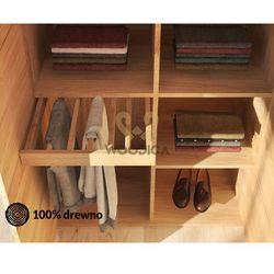 Woodica Wieszak na spodnie do szafy dębowej modern mały 50cm