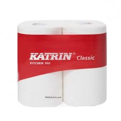 Ręcznik papierowy super biały KATRIN 360, 2 rolki - Autoryzowana dystrybucja - Szybka dostawa (8243859552507