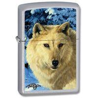 Zapalniczka ZIPPO LP-WHT Wolf, Satin Chrome (Z24784) z kategorii Zapalniczki