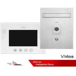 Zestaw skrzynka na listy z wideodomofonem. monitor 7'' s551-skp_m670w-s2 marki Vidos