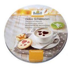 Szablony do dekoracji ciasteczek i kawy forever 6 szt. marki Birkmann