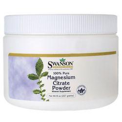 Swanson Cytrynian Magnezu 100% czystości proszek 227g (proszek)