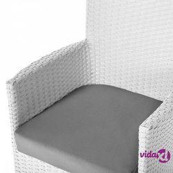 Beliani stół ogrodowy rattanowy 220 cm z 8 rattanowymi krzesłami - italy