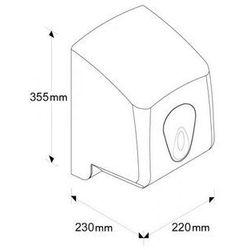 Pojemnik na ręczniki papierowe w roli top maxi okienko niebieskie marki Merida