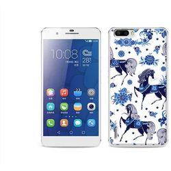 Fantastic Case - Huawei Honor 6 Plus - etui na telefon Fantastic Case - folkowe niebieskie konie